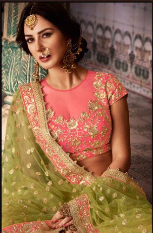 Mustard Wedding Party wear Lengha choli - LENAKA5112