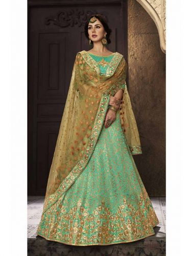 Green Wedding Party wear Lehenga choli - LENAKA5121