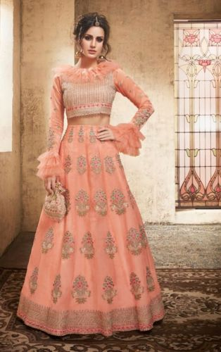 Peach Embroidered Designer Lehenga Choli - LEZOYA28005