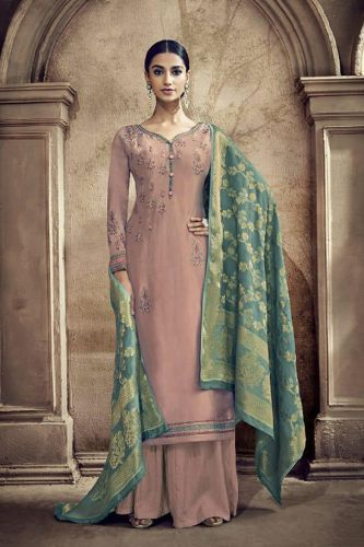 Onion Cotton Silk Embroidered Salwar Suit - SKGLOSSY055