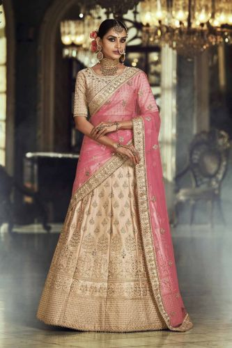 Beige Designer Heavy Embroidered Lehenga Choli - LENAKK5137