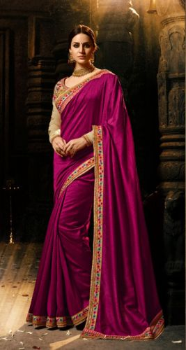 Wine Color Designer Silk Saree - SAARDH1143