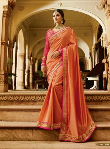 Peach Color Designer Silk Saree - SAARDH1124